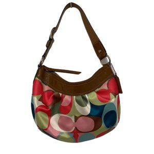 Authentic Coach Soho Scarf Sateen Hobo Bag Handbag